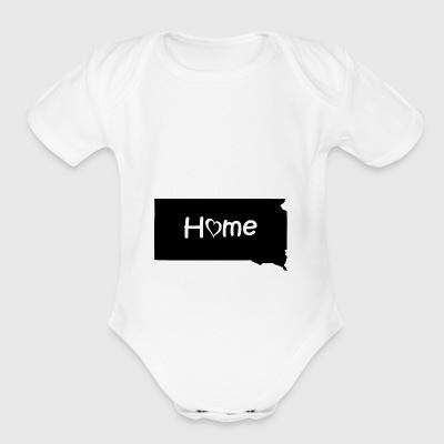South Dakota - Short Sleeve Baby Bodysuit