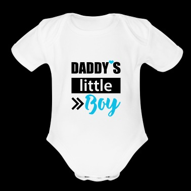 Daddy's little Boy - Organic Short Sleeve Baby Bodysuit