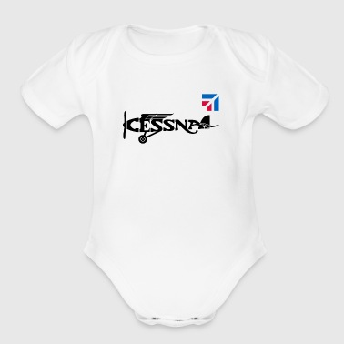 Cessna Aircraft Aviation Airplane - Short Sleeve Baby Bodysuit