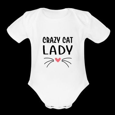 Crazy Cat lady - Short Sleeve Baby Bodysuit