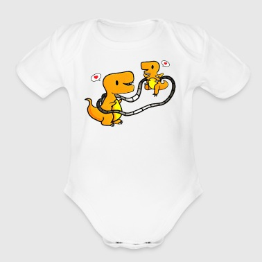 Happy Familysaur - Short Sleeve Baby Bodysuit