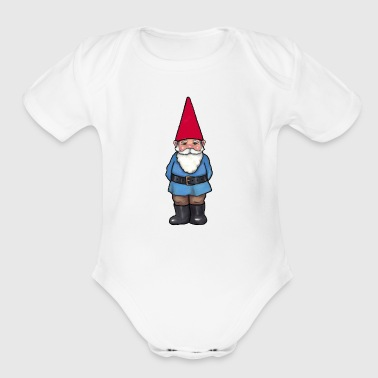 Gnome Illustration - Organic Short Sleeve Baby Bodysuit