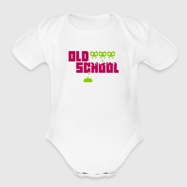 Old School - Organic Short Sleeve Baby Bodysuit