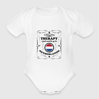 DON T NEED THERAPIE GO NETHERLANDS - Short Sleeve Baby Bodysuit