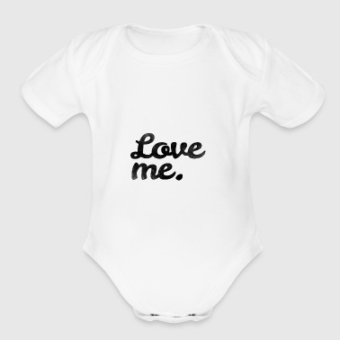 Love me - Short Sleeve Baby Bodysuit