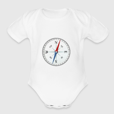 compass - Short Sleeve Baby Bodysuit