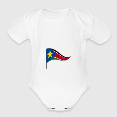 South Sudan Africa Flag Banner Flags Ensigns - Short Sleeve Baby Bodysuit