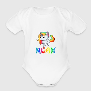 Noah Unicorn - Short Sleeve Baby Bodysuit