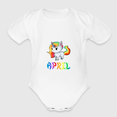 April Unicorn - Short Sleeve Baby Bodysuit
