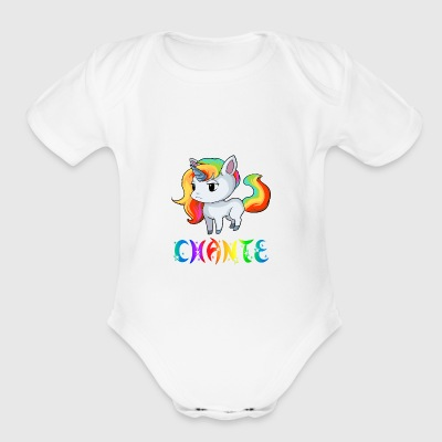 Chante Unicorn - Short Sleeve Baby Bodysuit