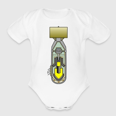 atomic bomb - Short Sleeve Baby Bodysuit