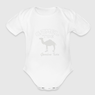 Camel Toe cigarette - Short Sleeve Baby Bodysuit
