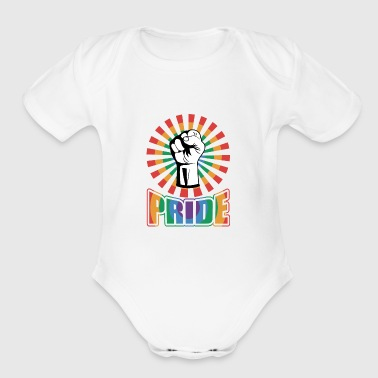 PRIDE BE A AFRO - Short Sleeve Baby Bodysuit