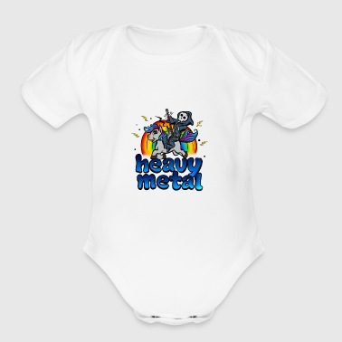 Death Metal Pony Rainbow T-Shirt - Heavy Metal Tee - Short Sleeve Baby Bodysuit