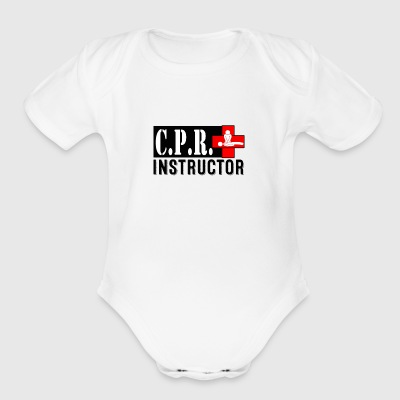 CPR INSTRUCTOR NEW FONT - Short Sleeve Baby Bodysuit