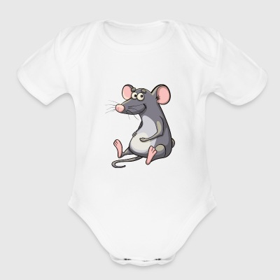 Cute Mouse - Short Sleeve Baby Bodysuit