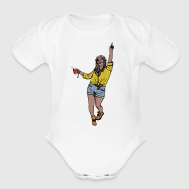 Party Girl - Short Sleeve Baby Bodysuit
