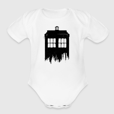 Ink Time, A subtle grungy design. - Short Sleeve Baby Bodysuit