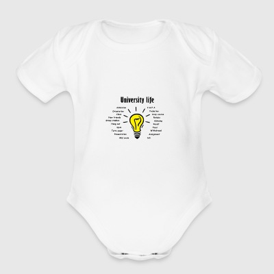 University life t-shirt - Short Sleeve Baby Bodysuit