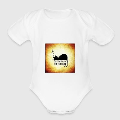 sleeping - Short Sleeve Baby Bodysuit