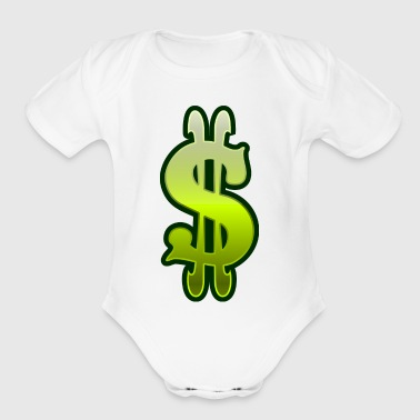 green slot machine dollar sign vector clipart - Short Sleeve Baby Bodysuit