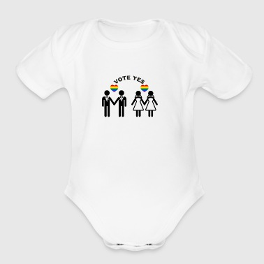 Vote YES - Short Sleeve Baby Bodysuit