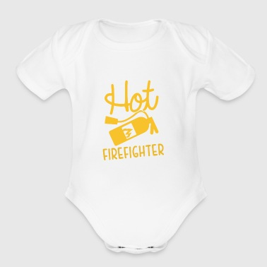 Hot Firefighter - Short Sleeve Baby Bodysuit