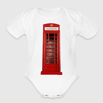 phone booth2 - Short Sleeve Baby Bodysuit