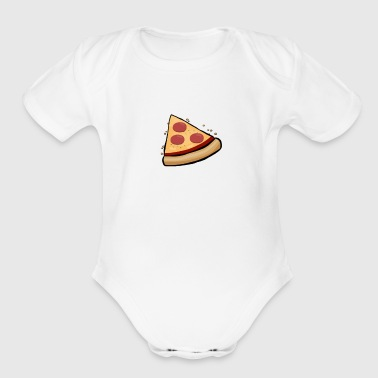 Funny Cute Pizza Slice Matching Shirt Couple Love - Short Sleeve Baby Bodysuit