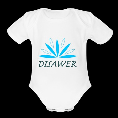 DISAWER celestial leaves - Short Sleeve Baby Bodysuit