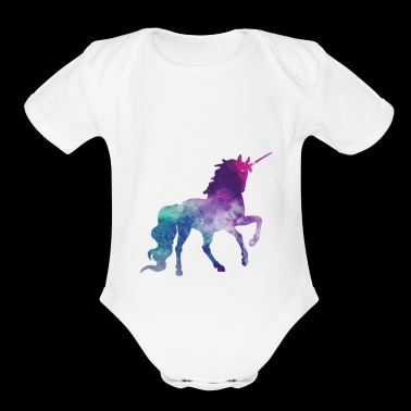 Fantastical Unicorn - Organic Short Sleeve Baby Bodysuit