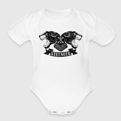 Panther Strength - Short Sleeve Baby Bodysuit