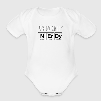 Periodically Nerdy Funny Science - Short Sleeve Baby Bodysuit
