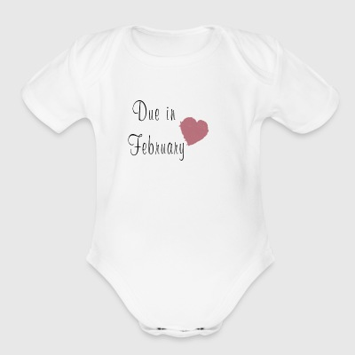 Due in February - Short Sleeve Baby Bodysuit