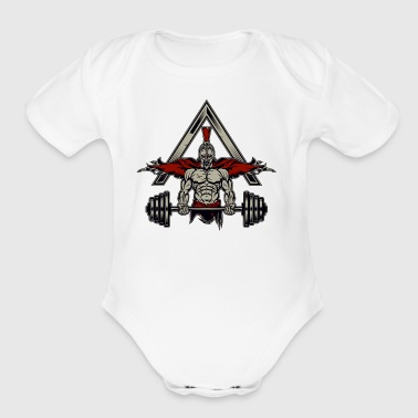 Spartan Weight Lifter - Perfect Gift For Gym Rats - Short Sleeve Baby Bodysuit