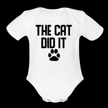 The Cat Did It - Organic Short Sleeve Baby Bodysuit