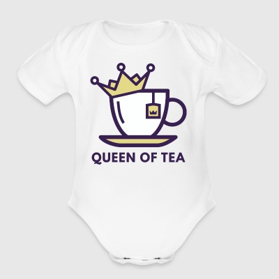 Queen Of Tea T Shirt - Short Sleeve Baby Bodysuit