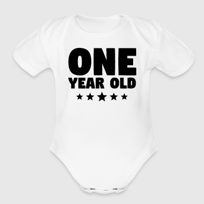 One Year Old First Birthday - Short Sleeve Baby Bodysuit