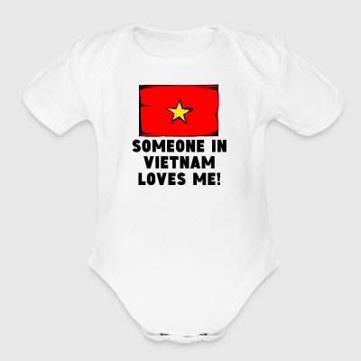 Someone In Vietnam Loves Me! - Short Sleeve Baby Bodysuit