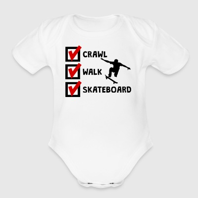 Crawl Walk Skateboard - Short Sleeve Baby Bodysuit
