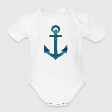 Ornate Anchor - Short Sleeve Baby Bodysuit