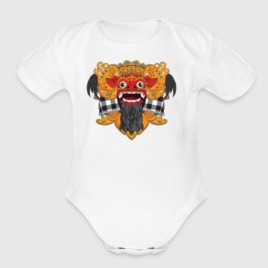 The Barong Mask - Short Sleeve Baby Bodysuit