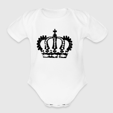 Distressed crown - Short Sleeve Baby Bodysuit