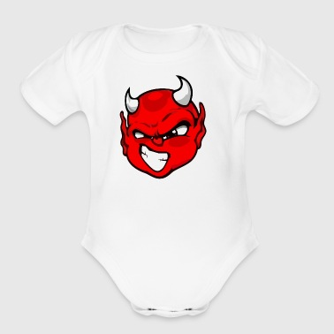 Rebelleart devil - Short Sleeve Baby Bodysuit