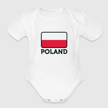 National Flag Of Poland - Short Sleeve Baby Bodysuit