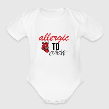 Allergic to bullshit - Short Sleeve Baby Bodysuit