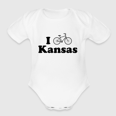 kansas biking - Short Sleeve Baby Bodysuit