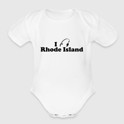 rhode island fishing - Short Sleeve Baby Bodysuit