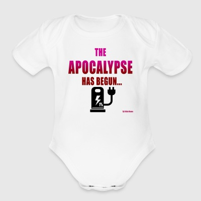 the apocalypse has begun - Short Sleeve Baby Bodysuit