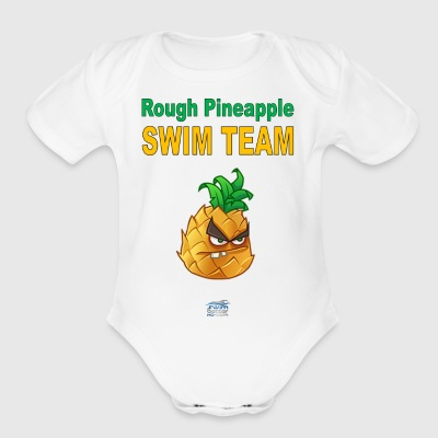 rough pineapple - Short Sleeve Baby Bodysuit